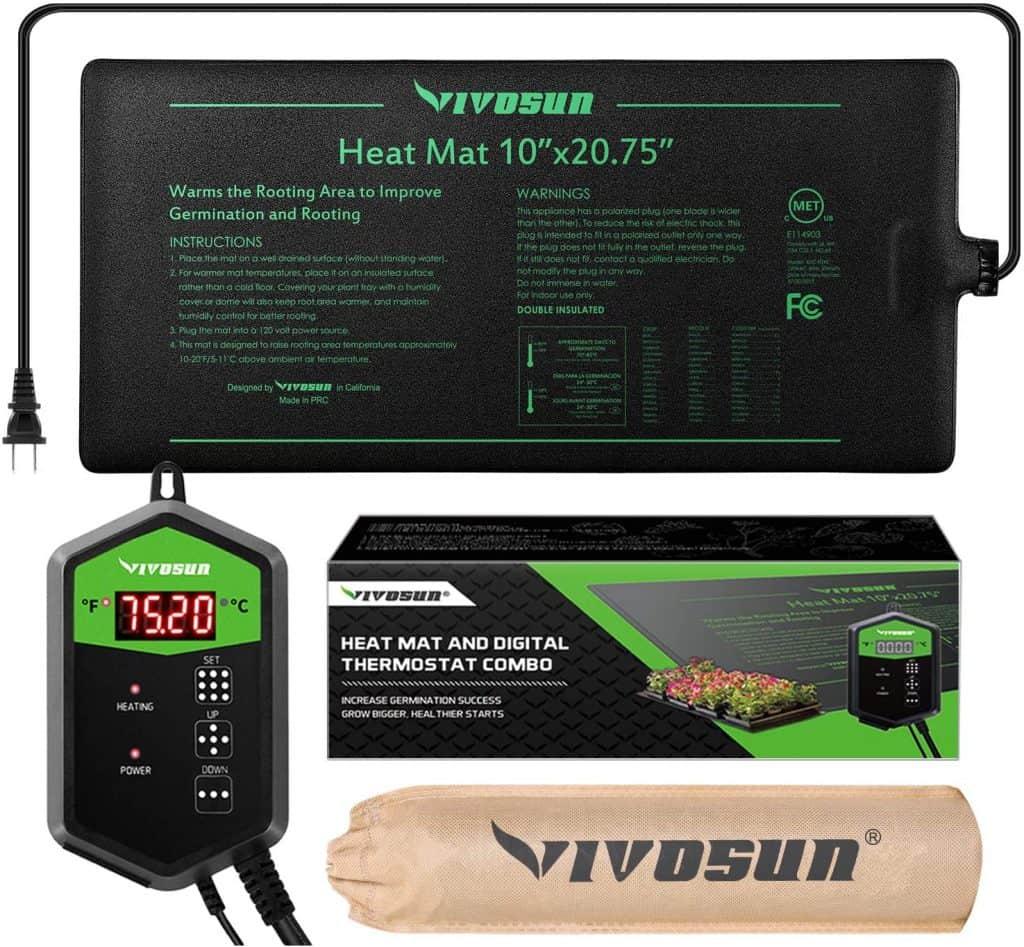 VIVOSUN Seedling Heat Mat and Digital Thermostat